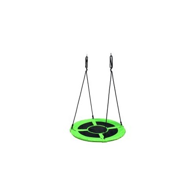 Kids Round Mat Web Birds Nest Swing Green 100cm