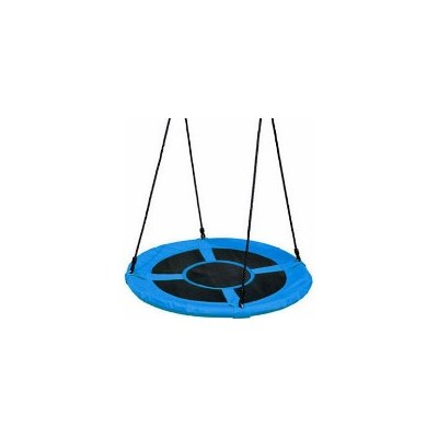 Kids Round Mat Web Birds Nest Swing Blue 100cm