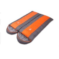 Camping Envelope Thermal Double Sleeping Bag Orange