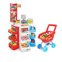 Kids Pretend Shopping Plastic Play Toy Supermarket