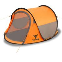 2 Person Waterproof Instant Pop Up Tent in Orange