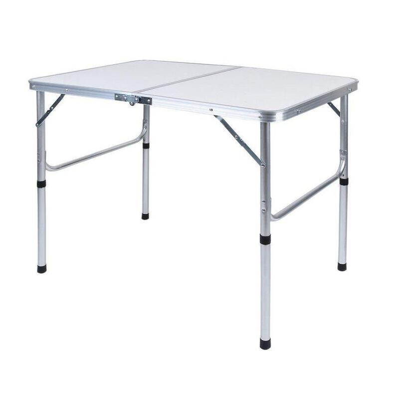Aluminium folding portable picnic table height adjustable 90x60 buy camping tables 338520 - Camping table adjustable height ...