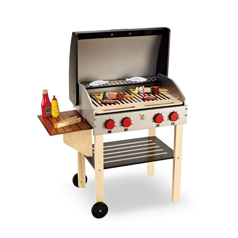 9c9109283478 h m s Remaining. Wooden Kitchen Pretend Play BBQ Set Toy Kids Toddlers ...