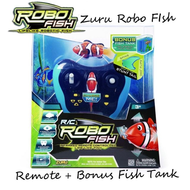 Zuru Remote Control Robot Fish Toy W Fish Tank Buy Rc Hobbies
