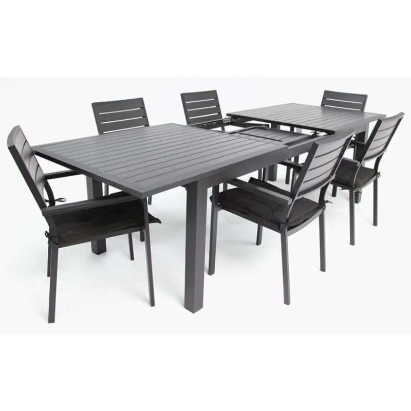 Buy Extendable Dining Table Extendable Dining Table Buy  : Heywood 7 piece extendable aluminium dining setting black03 from amlibgroup.com size 800 x 800 jpeg 62kB