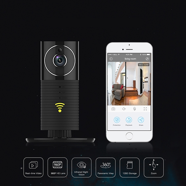 Mini Panoramic 360 Degree Wifi Security Camera w/ Smartphone App
