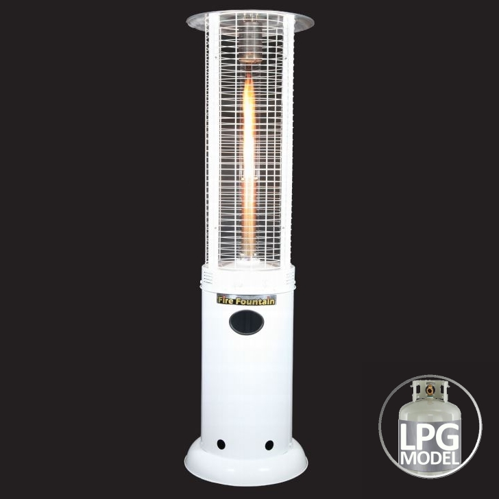 Fire Fountain Lpg Gas Outdoor Patio Heater In White Buy