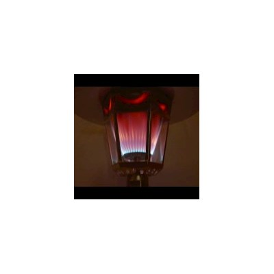 The Fire Lamp NG Gas Patio Heater in Antique Silver