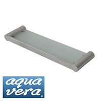 Pearl Stainless Steel Glass Shelf in Chrome 500mm