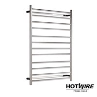 Hotwire Round Bar Heated Towel Rail 800 x 1150mm
