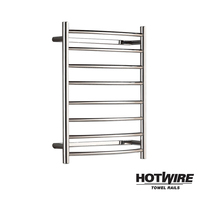 Hotwire Curved Stainless Steel Towel Rail 700x530mm