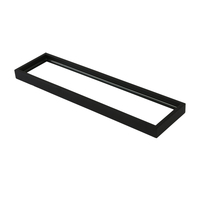 Montangna Stainless Steel Glass Shelf Matte Black