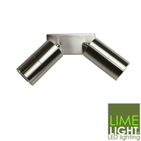 Sorrento Stainless Steel Double Spot Light 240V