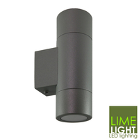 Bronte Wall Mounted Round Up & Downlight Dark Grey