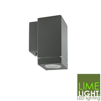Bronte Wall Mounted Square Downlight in Dark Grey