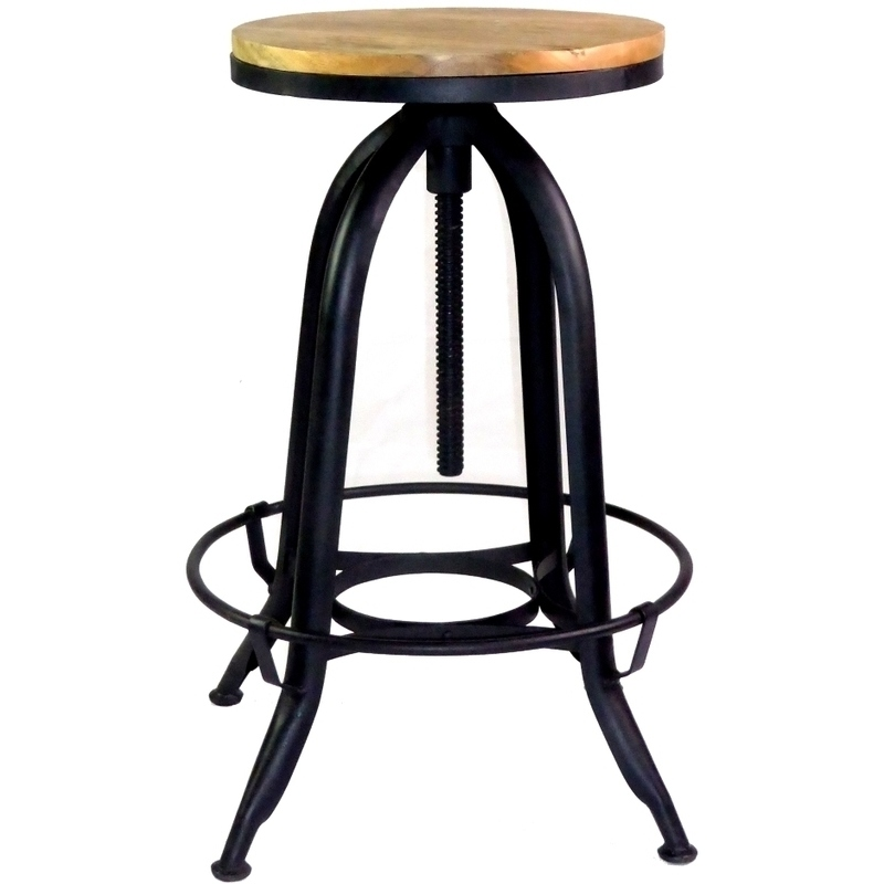 4x Metal amp Mango Wood Adjustable Swivel Bar Stool Buy  : FE 4031B02 from www.mydeal.com.au size 800 x 800 jpeg 106kB