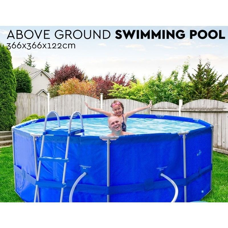 Above Ground Round Swimming Pool W Ladder Filter Buy