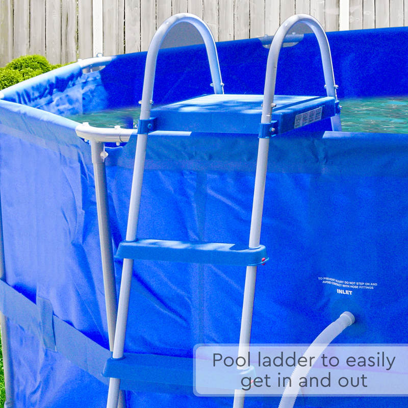 Above Ground Round Swimming Pool W Ladder Filter Buy Home Garden