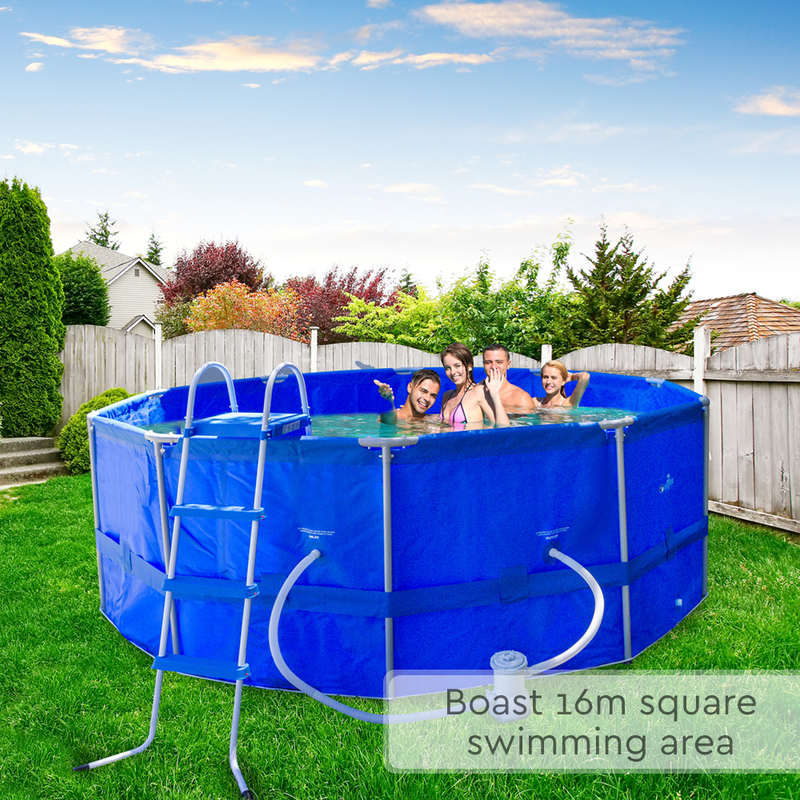 Above ground round swimming pool w ladder filter buy for Garden pool with filter