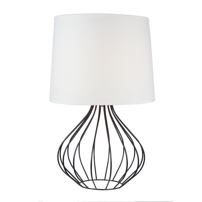 Quta metal wire table lamp in black w white shade buy table h m s remaining greentooth Images