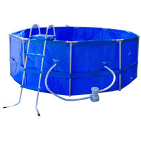Above Ground Round Swimming Pool w/ Ladder & Filter