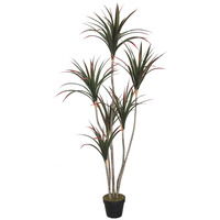 Large Artificial 3 Stem Dracaena Plant in Pot 160cm