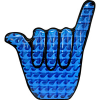 Hang Loose Hand Sign Oversized Pool Float 178x167