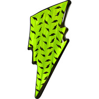 Inflatable Lightning Bolt Float - Green 194x73x17cm