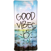 Inflatable PVC Good Vibes Print Pool Float 182cm