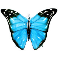 Giant Inflatable Butterfly Pool Float in Blue 133cm