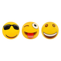 Large Inflatable Smile Emoji Ball in Yellow 100cm