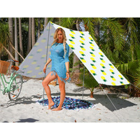 Good Vibes Summer Beach Tent in Pineapple Print