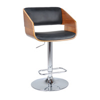 Maria Wooden PU Leather Bar Stool with Gas Lift