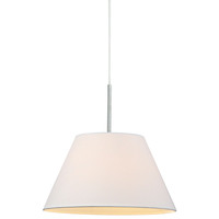 Eccas Modern Pendant Light with White Fabric Shade