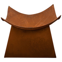 Rustic Outdoor Open Fire Pit Bowl with Base 50x41cm