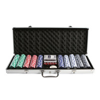 500 Chip Poker Set with Aluminium Carry Case