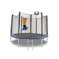 12ft Round Trampoline with Ladder & Basketball Hoop