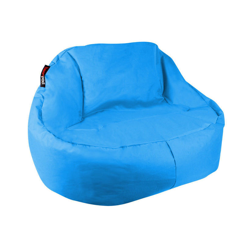 Bean Pod Luxe Bean Bag In Turquoise 120x80x80cm Buy