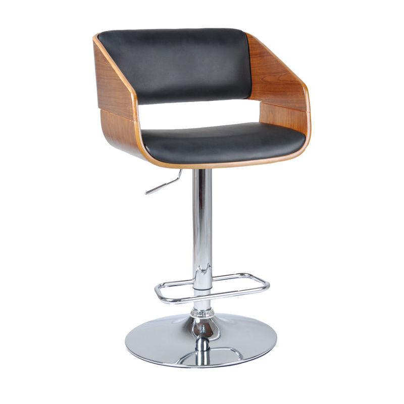 Maria Wooden Pu Leather Bar Stool With Gas Lift Buy Bar