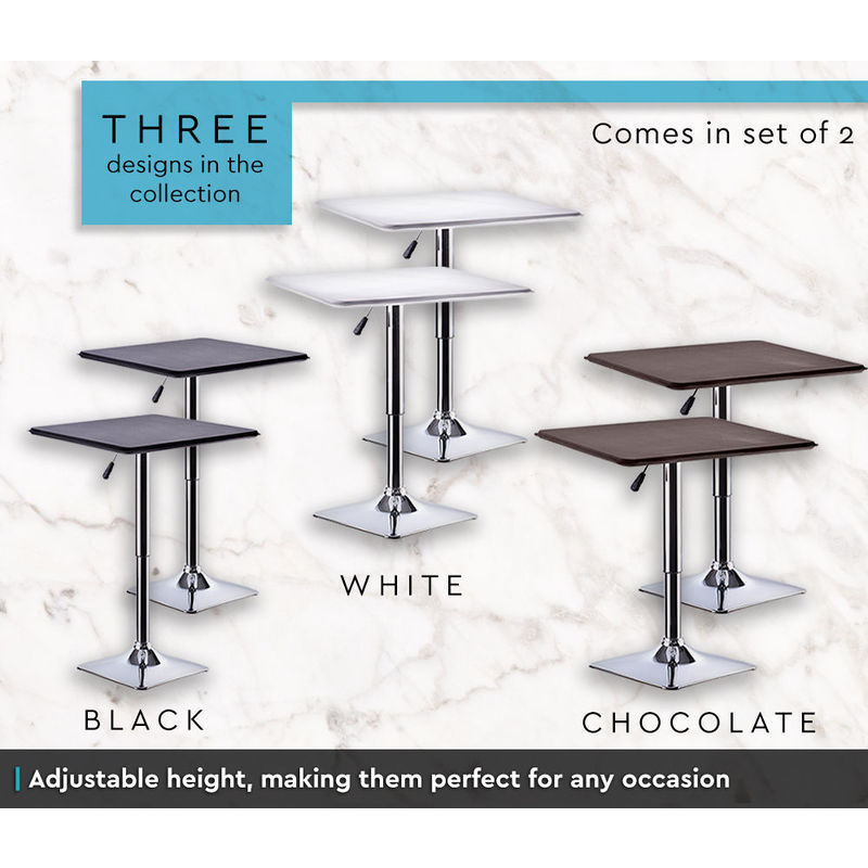 2x Adjustable Square Bar Table w Gas Lift Chocolate Buy  : HE1461C03 from www.mydeal.com.au size 800 x 800 jpeg 108kB