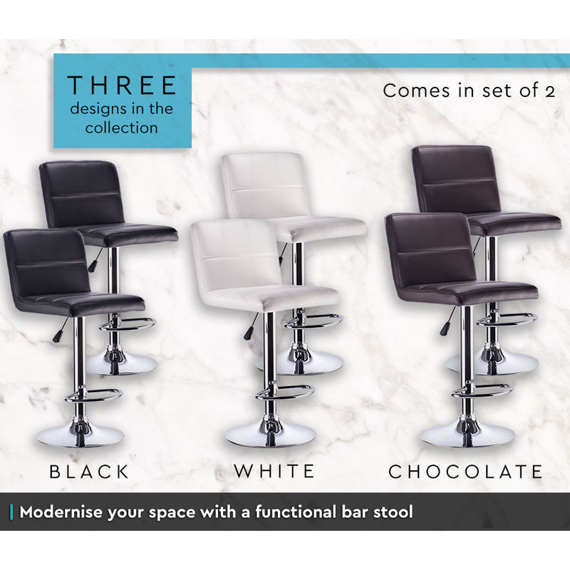 2x Sans PU Leather Bar Stool w Gas Lift Chocolate Buy  : HE1465C03 from www.mydeal.com.au size 800 x 800 jpeg 114kB