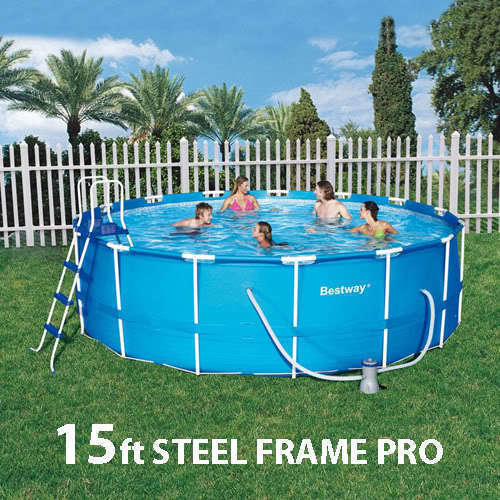 Bestway above ground swimming pool set 457x122cm buy for Purchase above ground swimming pool