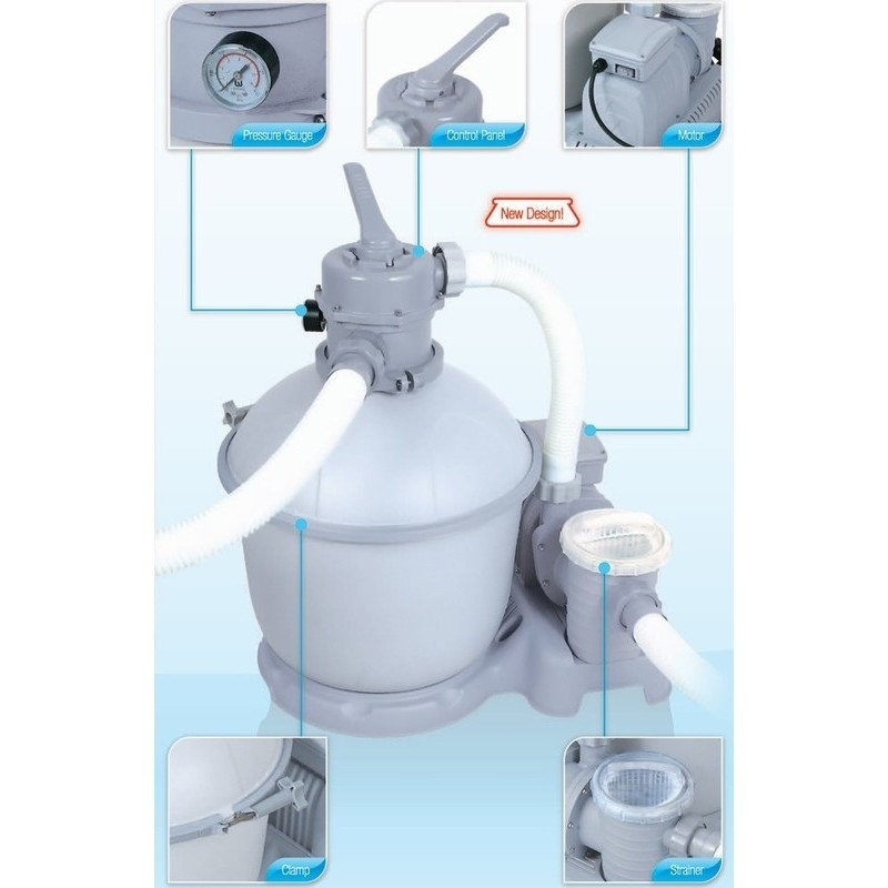 Bestway Above Ground Pool Sand Filter Pump 5678l H Buy Pool Filters