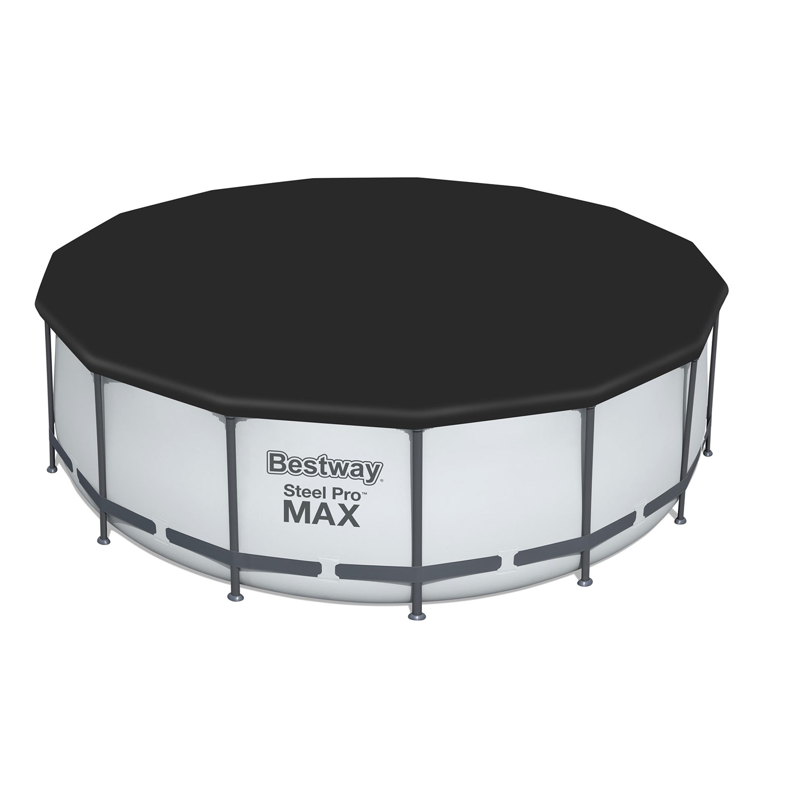12ft Bestway Steel Pro Max Above Ground Frame Swimming
