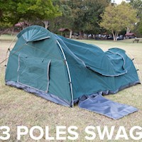 Double Camping Swag Tent with Aluminium Poles