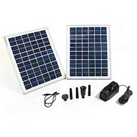 2x Solar Panel & Pump Kit for Large Pond 1600L/h