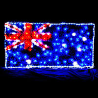 Flashing Australian Flag Party Light with 150 LEDs