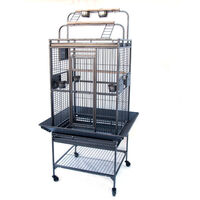 Flyline Small Iron Bird Cage w/ Playtops & Castors