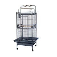 Classico Small Iron Bird Cage w/ Playtops & Castors