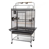 Flyline Medium Iron Bird Cage w/ Playtops & Castors